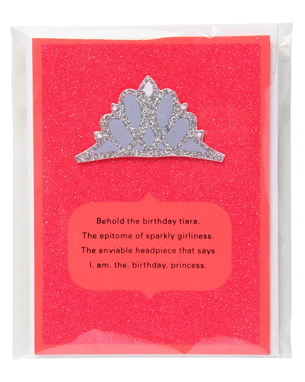 Amazon American Greetings Funny Tiara Birthday Card For Her