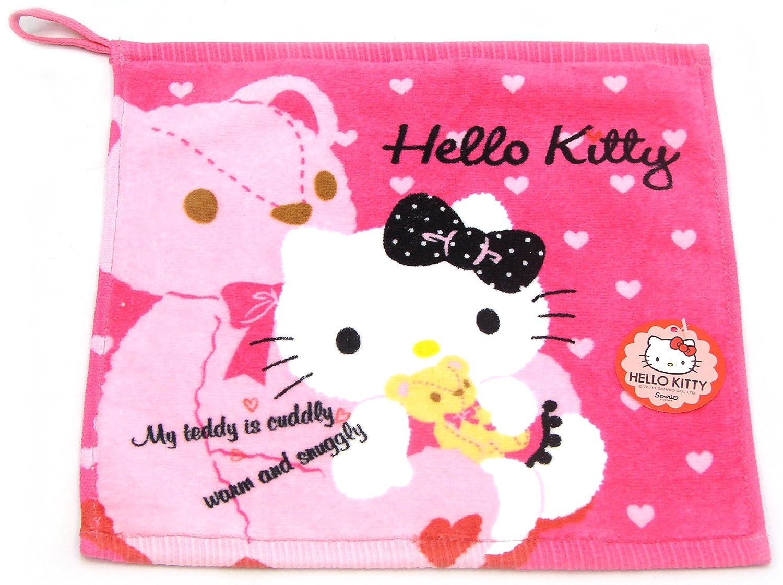 Hello kitty Lovely Face Hand Towel Brand New 11.8 X 11.8 100/% cotton bath sanrio Kids Girls