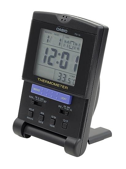 2e9cfed3b182 CASIO 10722 PQ-15-1H - Reloj Despertador Digital  Amazon.es  Relojes