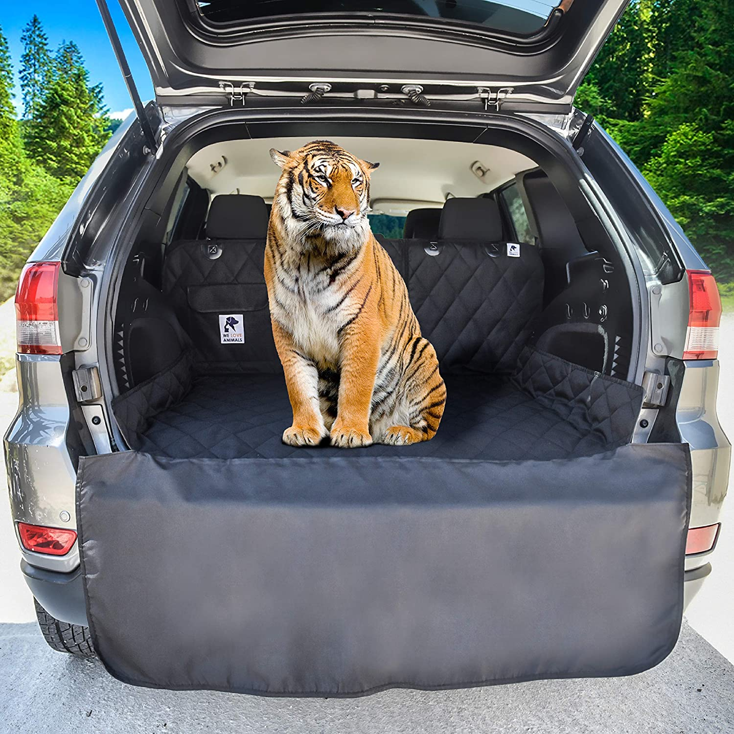 Dog Cargo Liner for SUV, Van, Truck & Jeep - Waterproof, Machine Washable, Nonslip Pet Seat Cover with Bumper Flap will keep your vehicle as clean as ever - XL, Universal Fit - BONUS Carry Bag : Pet Supplies