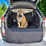 Dog Cargo Liner for SUV, Van, Truck & Jeep - Waterproof, Machine Washable, Nonslip Pet Seat Cover with Bumper Flap will keep