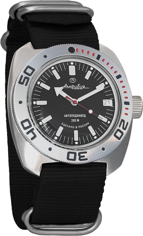 Vostok Amphibian Scuba Dude Automatic Mens Wristwatch Self-Winding Military Diver Amphibia Ministry Case Wrist Watch 710662