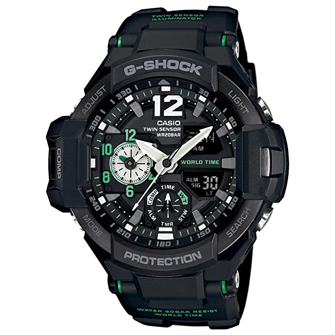 da2708871357 Amazon.com: Casio G-Shock Men's GA-1100 Gravitymaster Watch, Black/Silver,  One Size: CASIO: Watches
