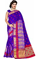 Royal Export Women's Cotton Silk Saree ( Blue )