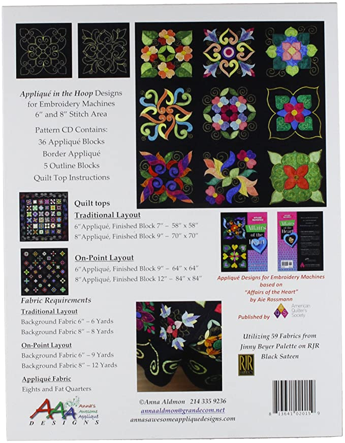 Amazon Annas Awesome Applique Designs Ah2013d1 Affairs Of The