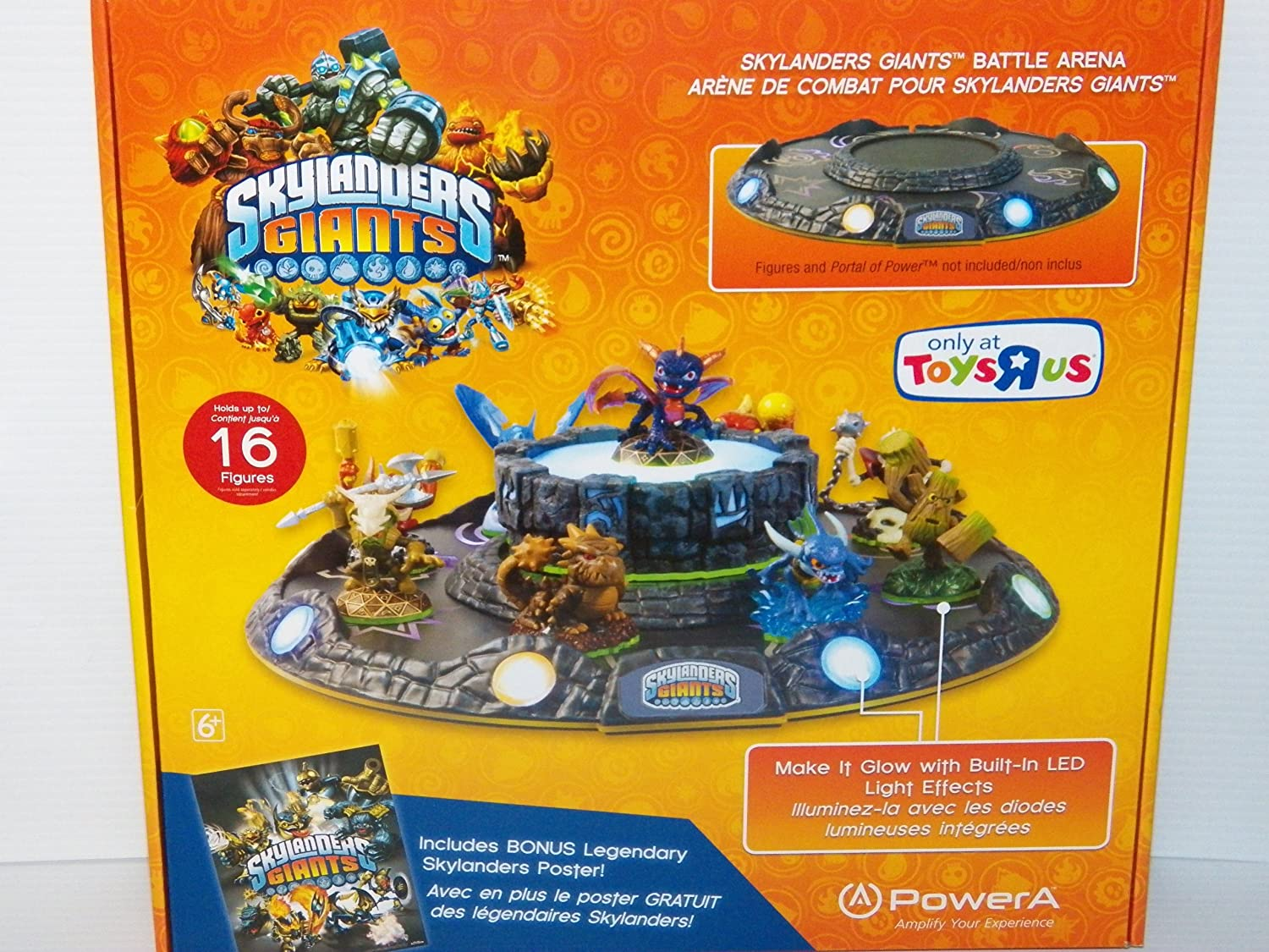 Skylanders Giants Battle LED Arena Plus Legendary Skylanders Poster