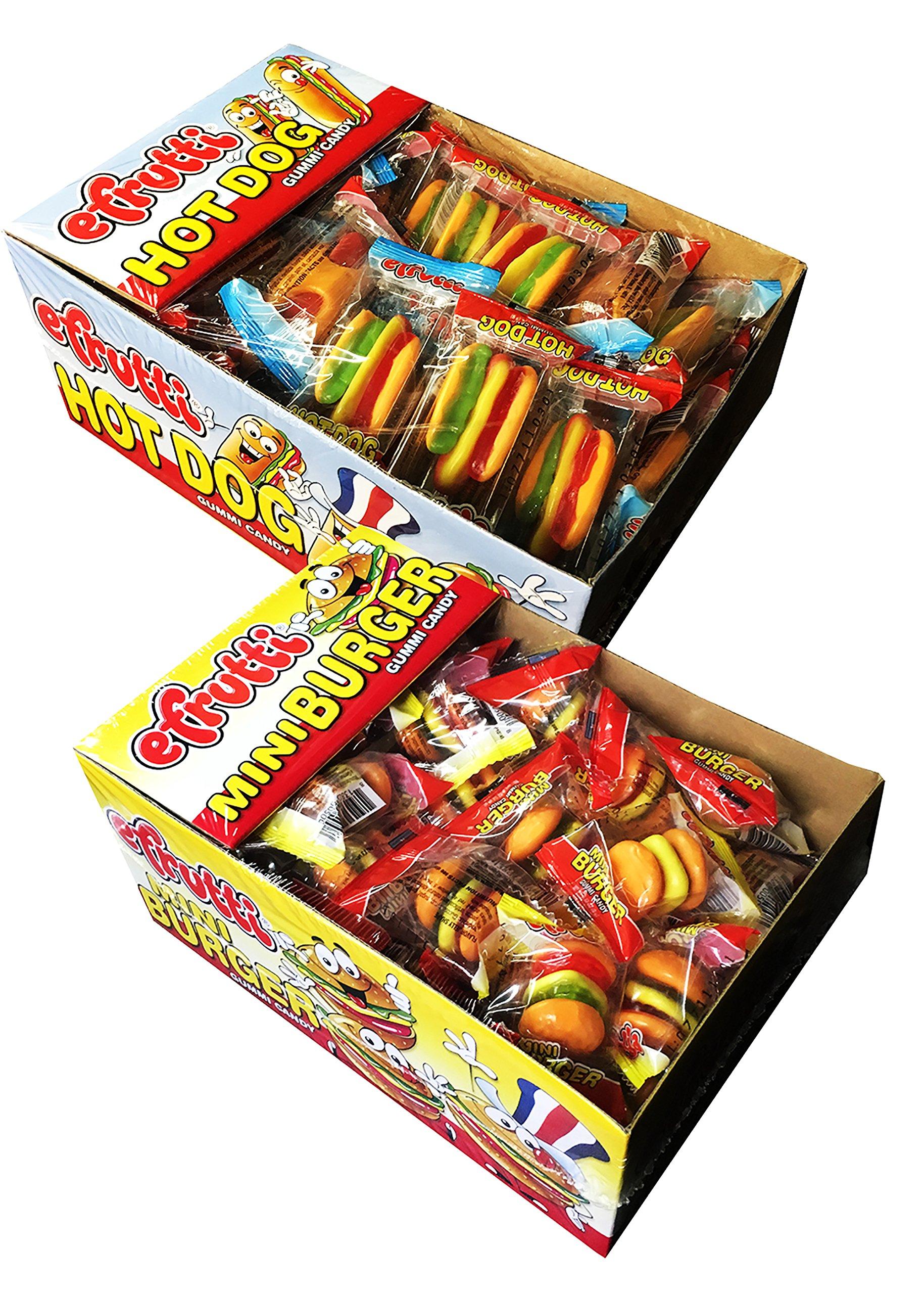 E Frutti Gummy Hamburger and Hot Dog Variety Pack of 120