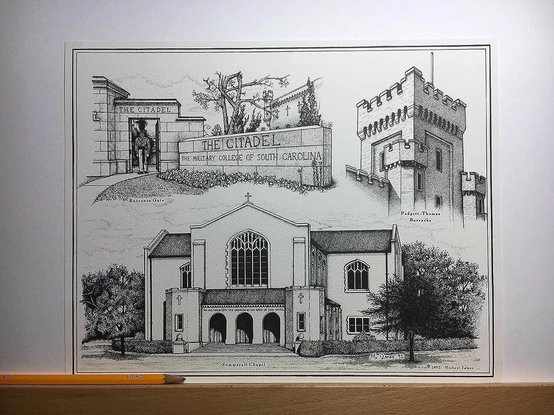 Citadel - hand-drawn pen and ink print