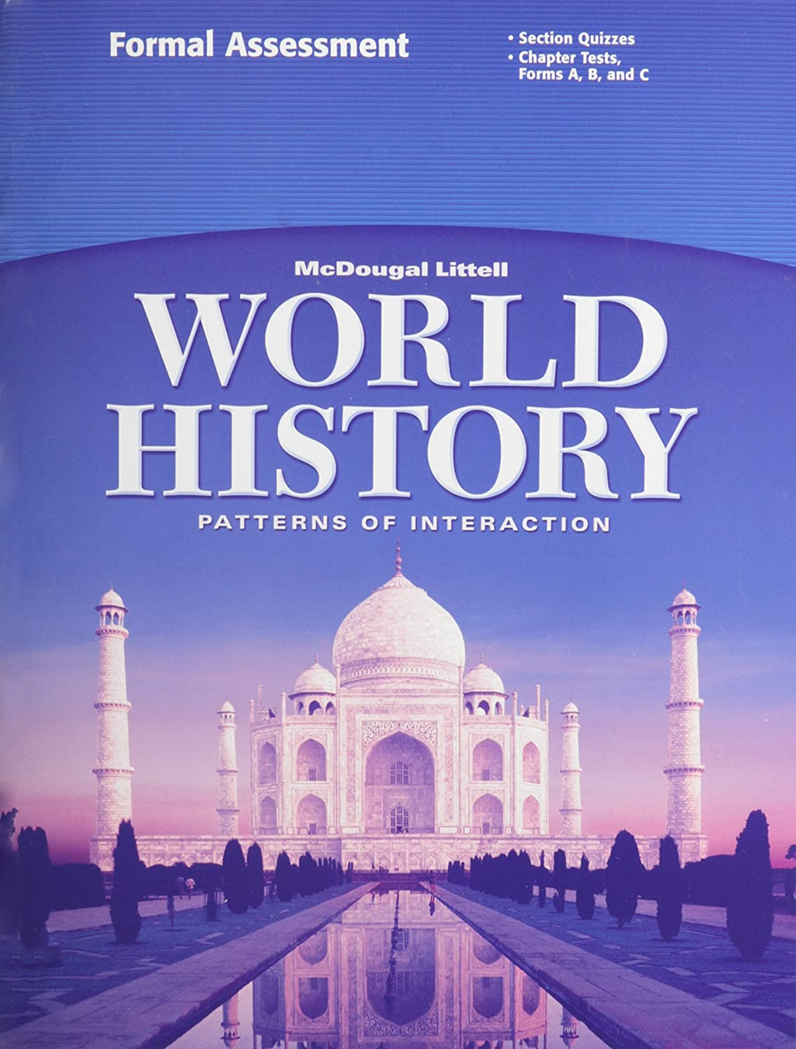 worksheet World History Patterns Of Interaction Worksheets amazon com world history patterns of interaction grades 9 12 formal assessment mcdougal littell everything else