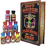 Hot Sauce Challenge Book Of Pleasure & Pain - 12 – 0.75 Ounce Bottles Gift Set - Perfect Premium Gourmet Hot Sauce Gift Set -