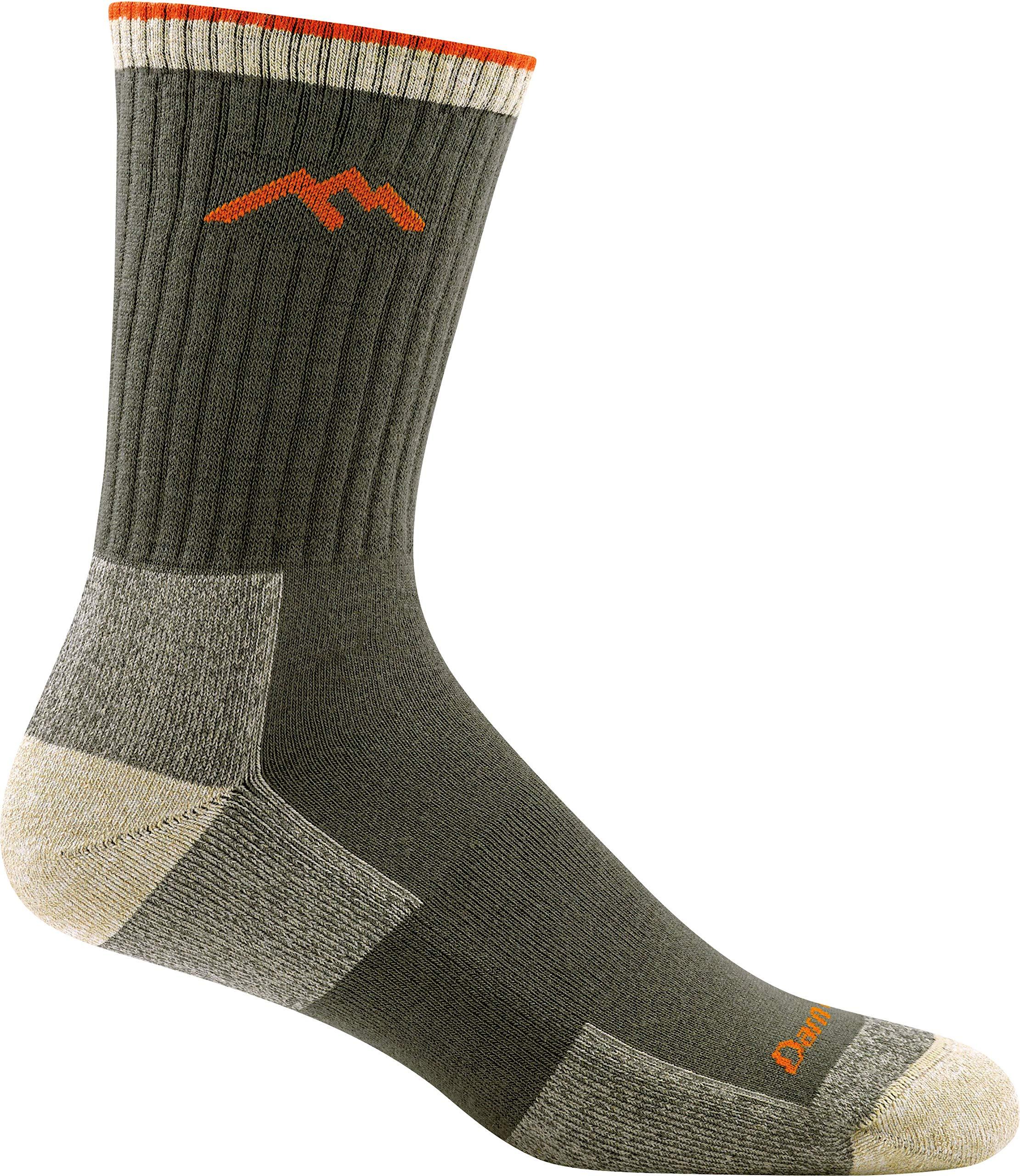Darn Tough Coolmax Micro Crew Cushion Socks - Men's Olive Large by Darn Tough