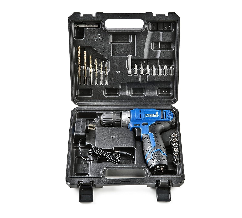 Amazon.com: Hyperikon Cordless Power Drill Lithium 12V with Driver ...