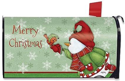 Christmas Mailbox Covers.Briarwood Lane Merry Christmas Magnetic Mailbox Cover Snowman Cardinal