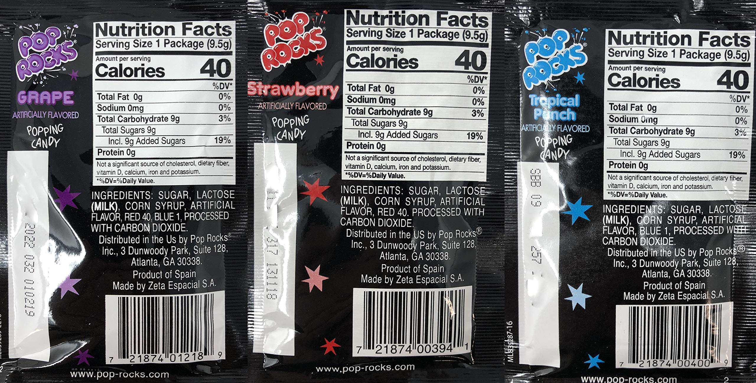 Pop Rocks Crackling Candy Variety Pack of 72 - Classic Popping Candy - Nine Different Flavors Bulk Pop Rocks Pack with Tru Inertia Kazoo by Tru Inertia (Image #5)
