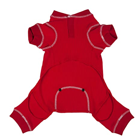 27b514bd6f03 Amazon.com   fabdog Red Thermal Dog PJs