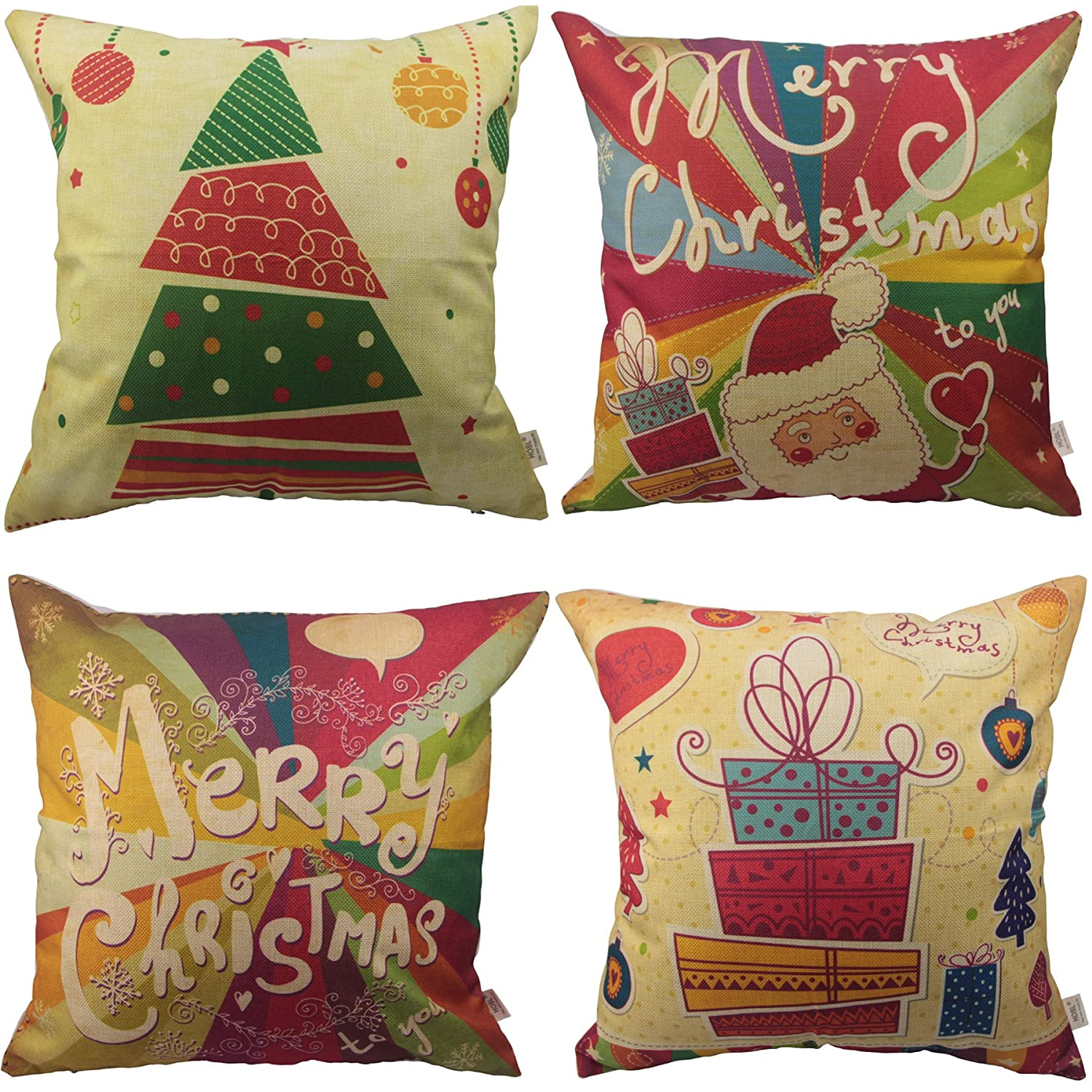 Merry Christmas Throw Pillow C...