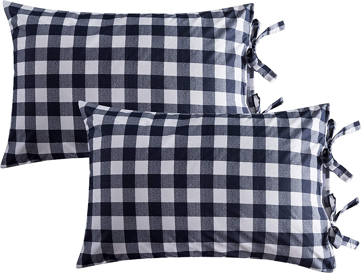 Amazon Com Fadfay Pillowcase 20x29 Inch Premium 100 Cotton Black And White Pillow Cover Decorative Pillow Protectors Standard Size 2 Pack Twin Full Queen Bed Duvet Cover Sold Separately Home Kitchen