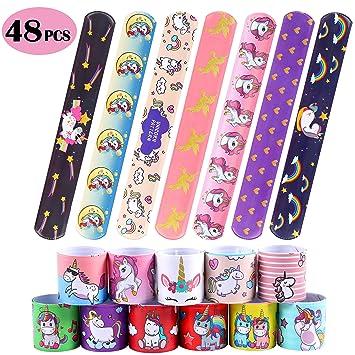 Amazon.com: 48 pulseras con diseño de unicornio para regalar ...