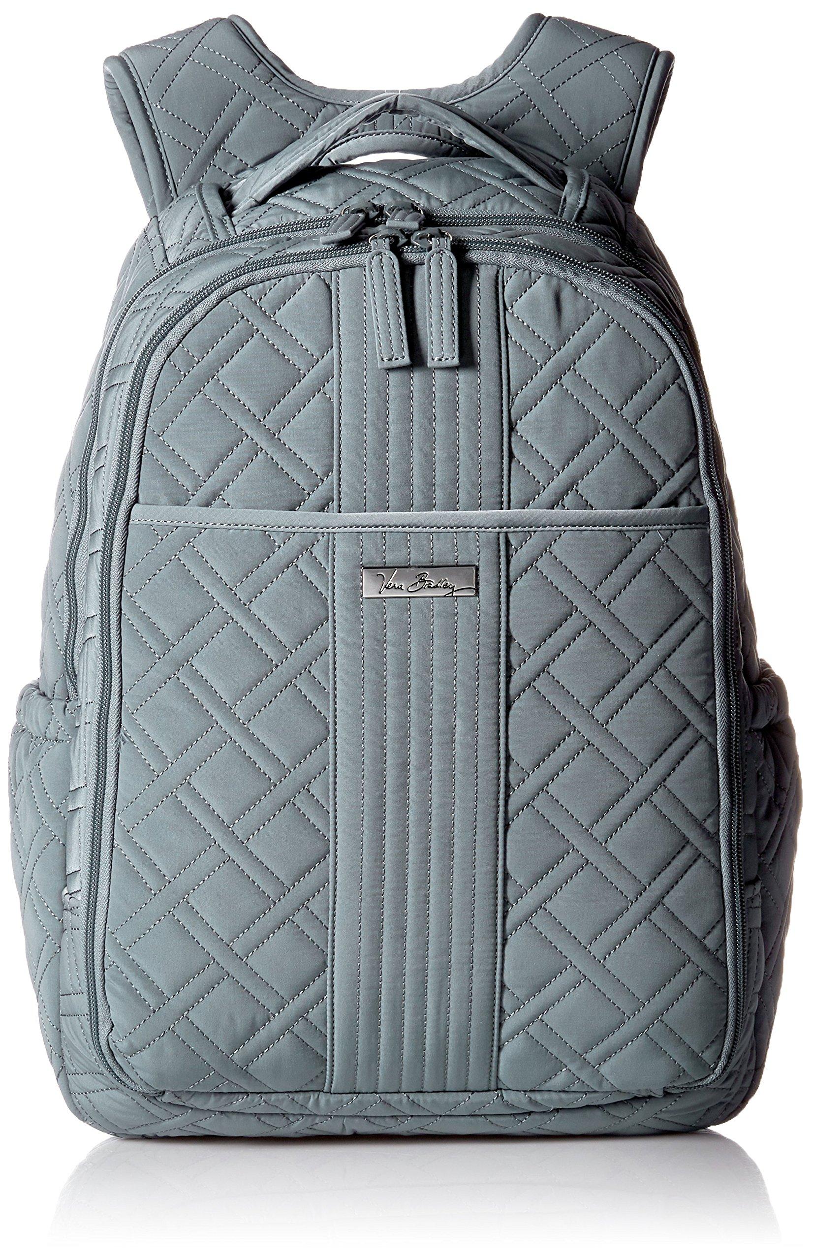 Vera Bradley Women's Backpack Baby Bag, Charcoal