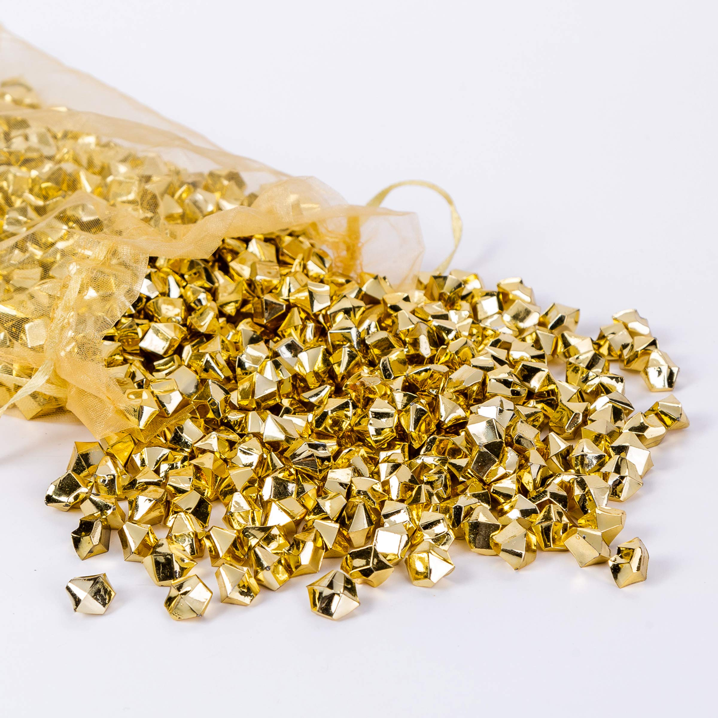 AiFanS Golden Nuggets for Table Scatter Decoration or Vase Filler(Metallic Gold,1.4cm,Pack of 755 Piece) by AiFanS