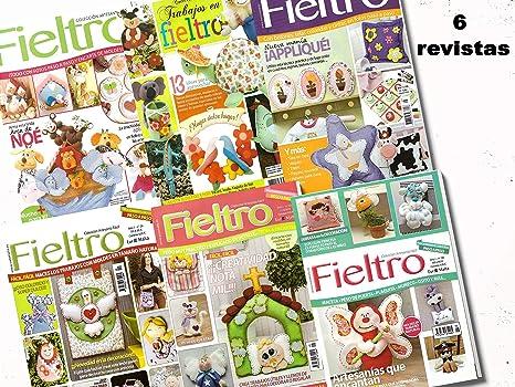 Pack oferta 6 revistas de Fieltro paso a paso + 1 tela 50 x 50 cm