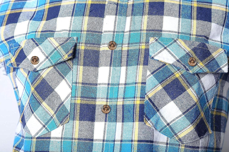 SOOPO Mens Casual Sleeveless Flannel Plaid Shirt Cotton T-Shirt Vest Plus Size