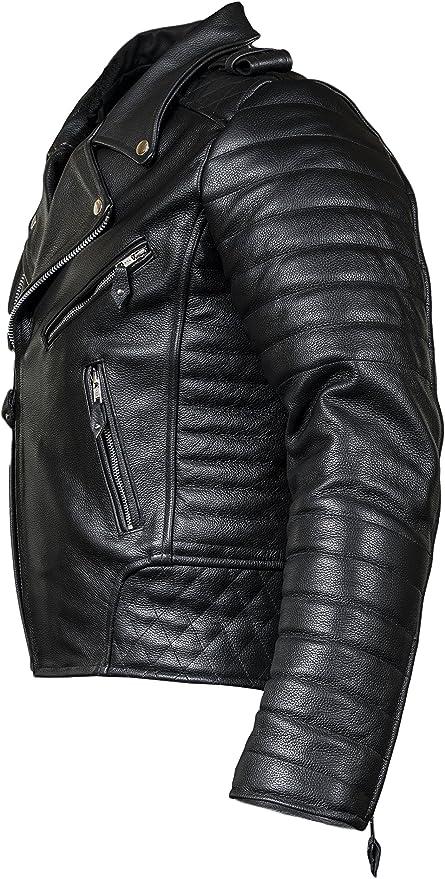 Fnf Herren Motorrad Lederjacke Biker Jacke Motorradjacke Mit Protektoren Gesteppt Bekleidung