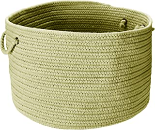 product image for Colonial Mills BR66 18 by 18 by 12-Inch Boca Raton Solid Storage Basket, Celery