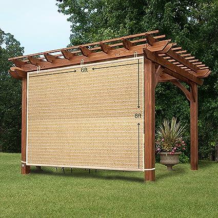 Easy2Hang Side Shade Panel Wall for Pergola, Patio, Window, Instant Canopy  or Gazebo - Amazon.com: Easy2Hang Side Shade Panel Wall For Pergola, Patio