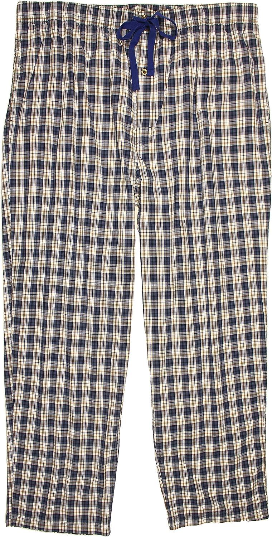 Cremieux Men's Big and Tall Woven Poplin Sleep Bottoms Pajama Pants