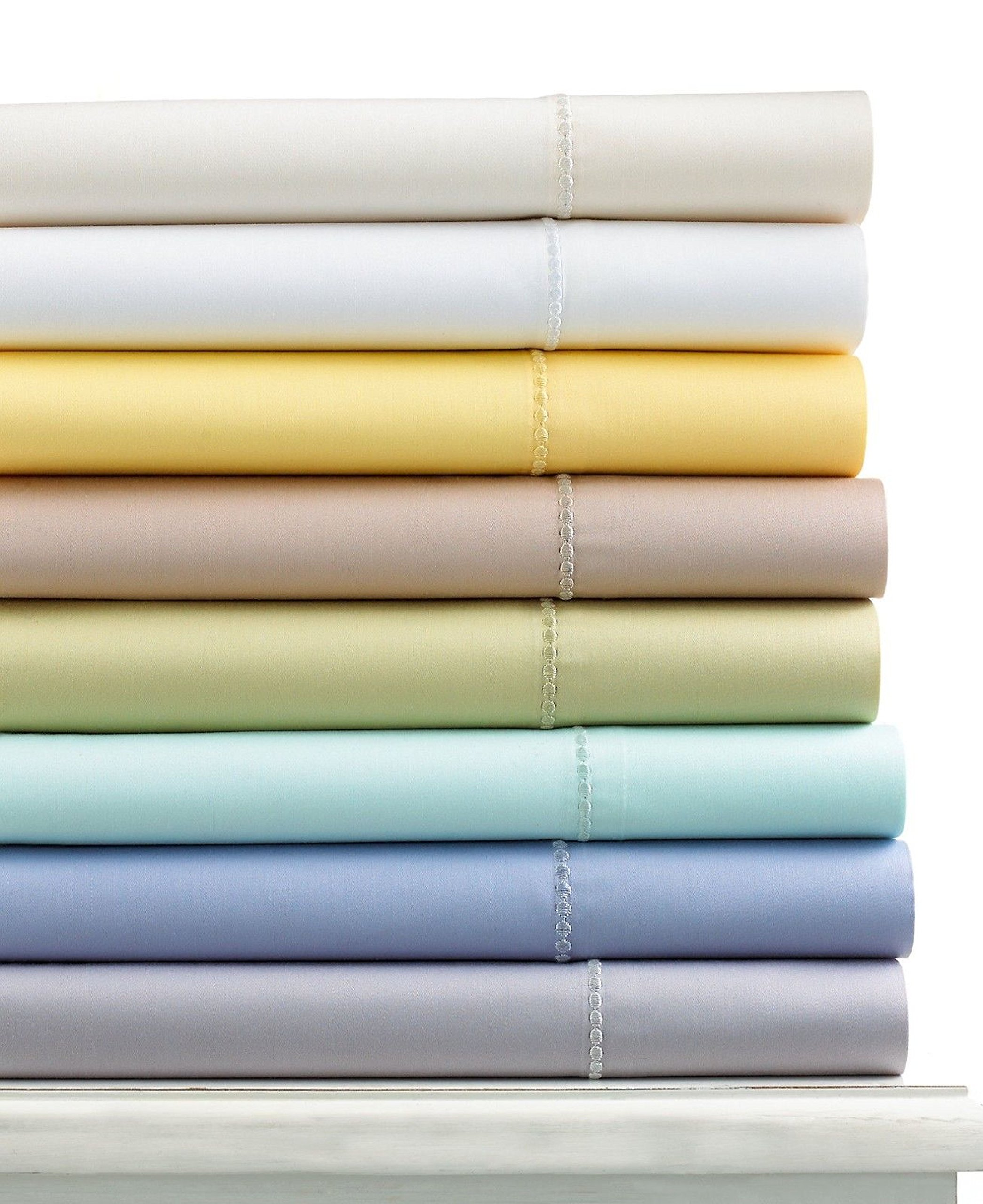 Martha Stewart Collection 300 Thread Count Cotton King Flat Sheet
