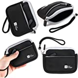 DURAGADGET Premium Quality Water-Resistant Carry Case in Monochrome Neoprene for the NEW Sony DSC-WX500 Compact Camera with 30x Optical Zoom