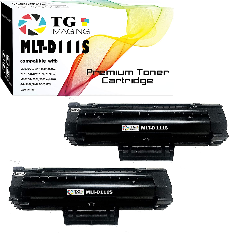 TG Imaging (2 x Black) Compatible 111S MLT-D111S Toner Cartridge, for Samsung Xpress M2020, M2070 Printers