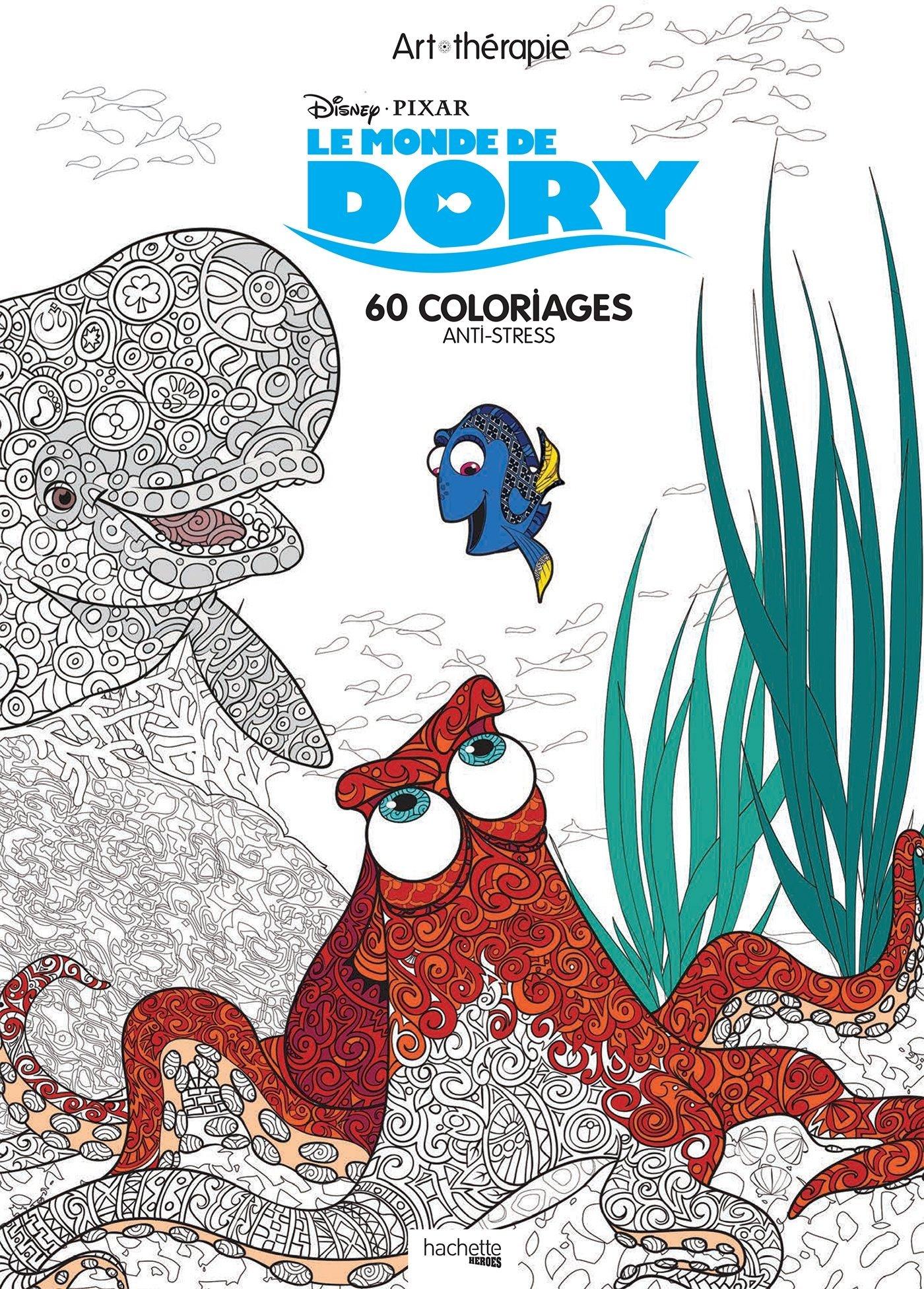 Amazon Art thérapie Le monde de Dory 60 coloriages anti stress Jean Luc Guérin Livres