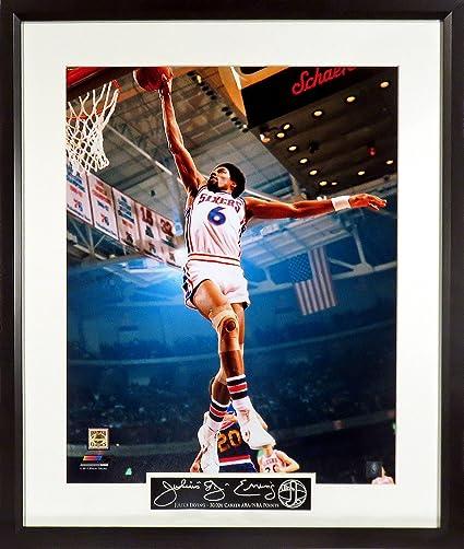 "4f1c9f9a5b5 Philadelphia 76ers Julius Erving ""Dr. J"" 16x20 Photograph (SGA Signature  Series)"