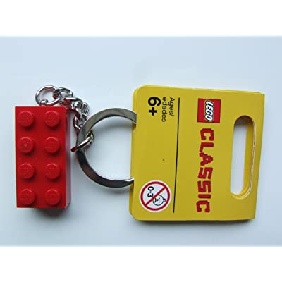 LEGO Red Brick Key Chain: Toys & Games