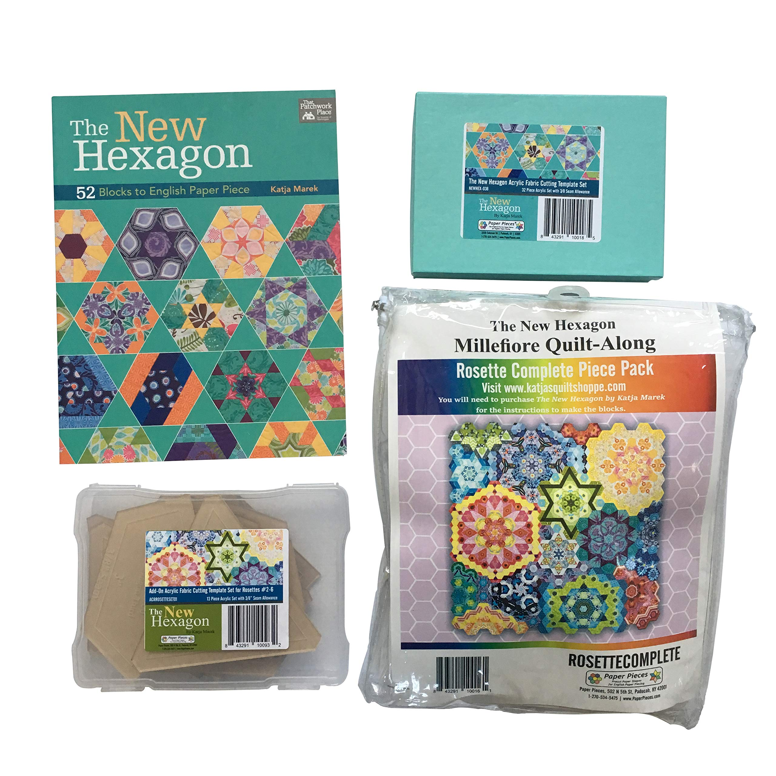 The New Hexagon Quilt Kit by Katja Marek (Millefiore Quilt Along) by Katja Marek Quilt Patterns