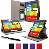 Roocase Samsung Galaxy Note 10.1 Dual View Multi-Angle Stand Tablet Case (Black)