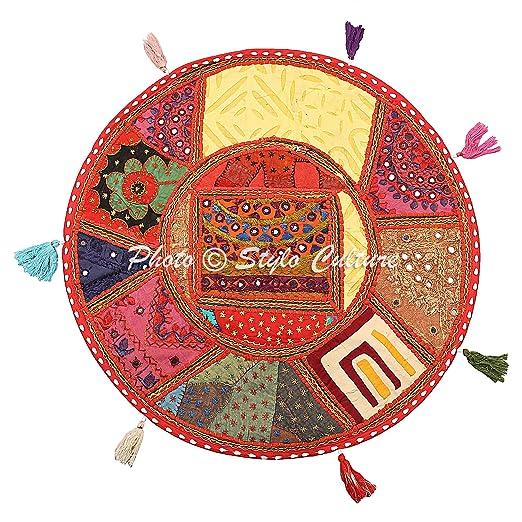 Stylo Culture Cojín de Piso de algodón Redondo Vintage ...
