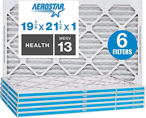 Aerostar Home Max 19 7//8 x 21 1//2x1 MERV 13 Pleated Air Filter Made in the U...