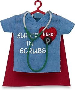 Hallmark Keepsake 2017 Healthcare Superhero in Scrubs Dated Christmas Ornament