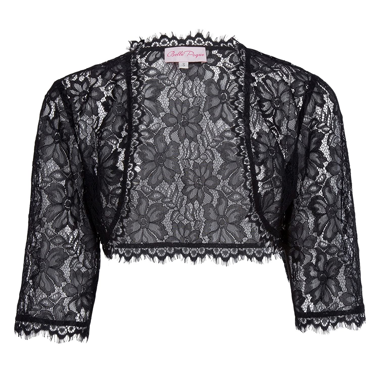 JS Fashion Vintage Dress Women's Long Sleeve Floral Lace Shrug Bolero Cardigan JS49 BP000049New