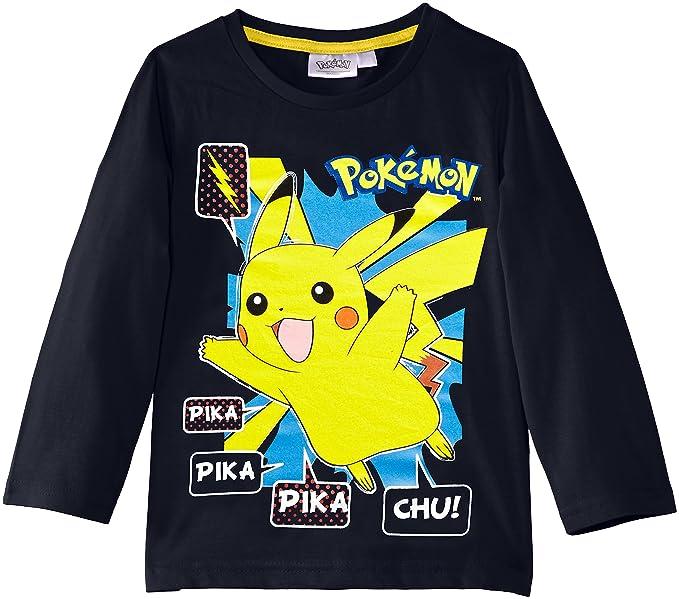 Nintendo Pokemon Nh1352 - Camiseta para niños, color blau (skydiver blue), talla
