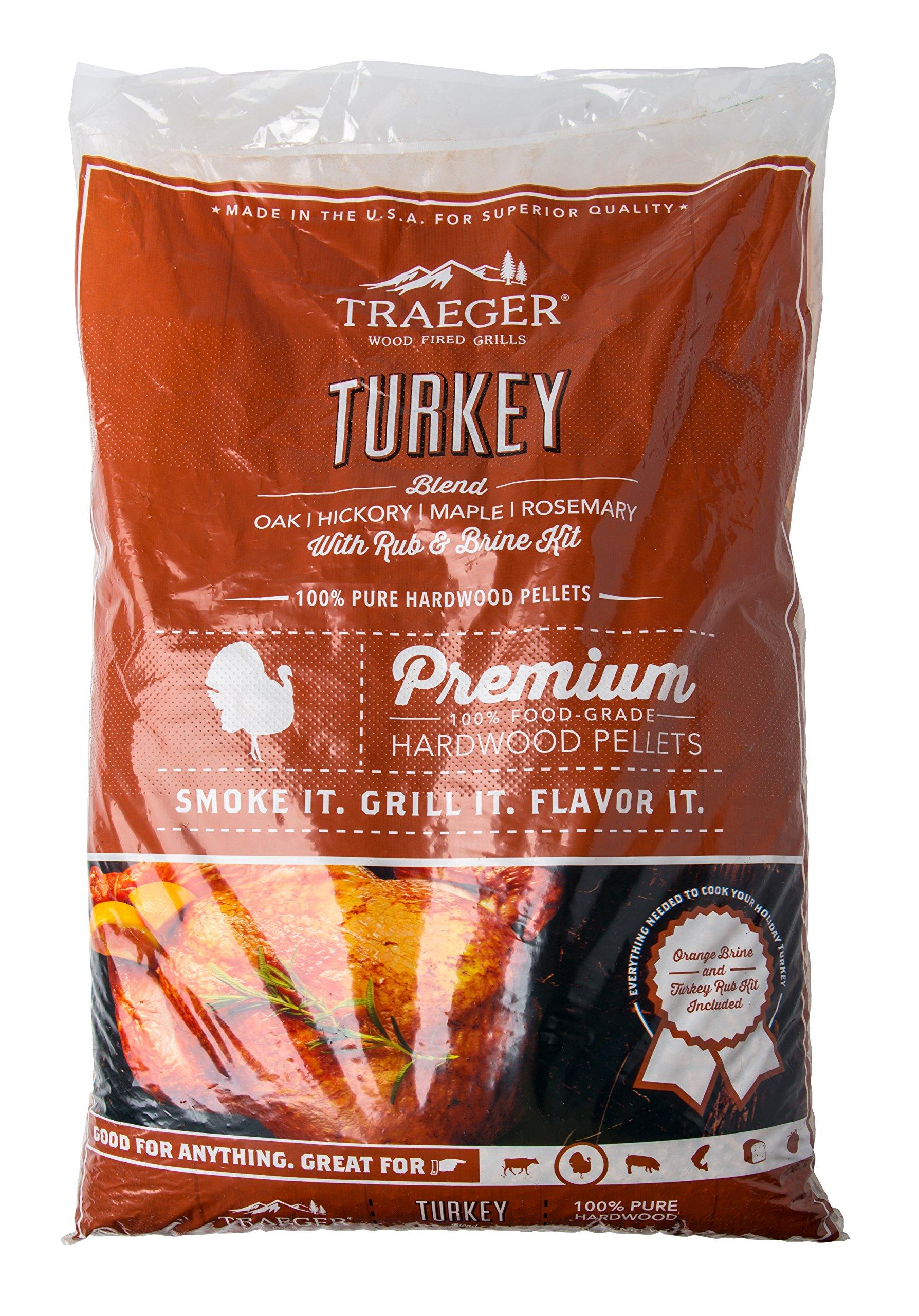 Traeger Grills PEL329 Turkey Blend 100% All-Natural Hardwood Pellets Grill, Smoke, Bake, Roast, Braise and BBQ, 20 lb. Bag by Traeger