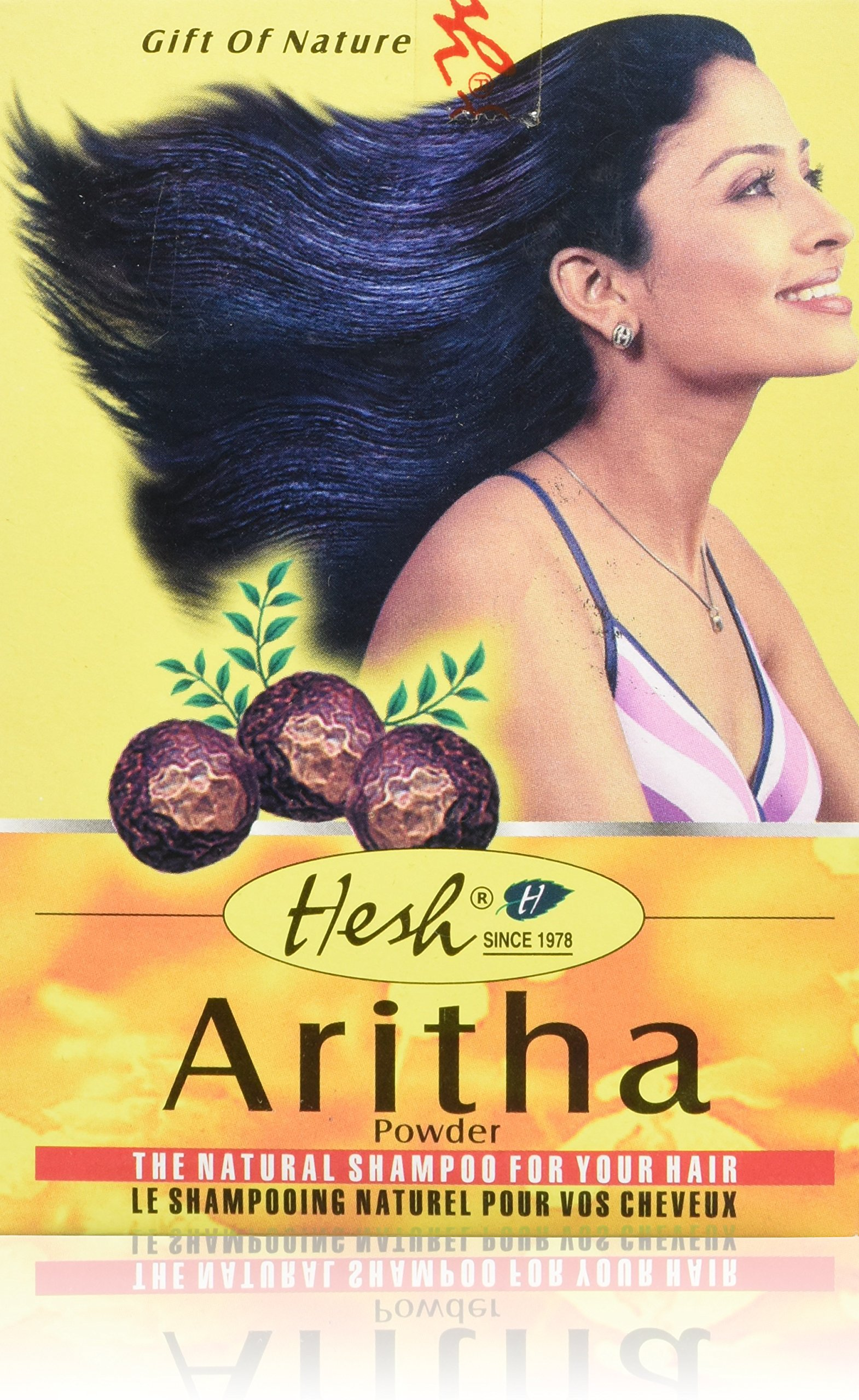 Hesh Aritha Herbal Ayurveda Powder The Natural Shampoo for Your Hair (100 g / 3.5 oz)