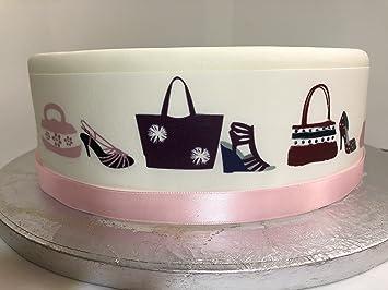 Essbare Kuchenverzierung Fur Grosse Kuchen Motiv Schuhe Amp