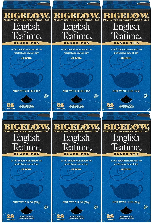 Bigelow English Teatime Tea 28-Count Boxes (Pack of 6) Full Caffeine Premium Black