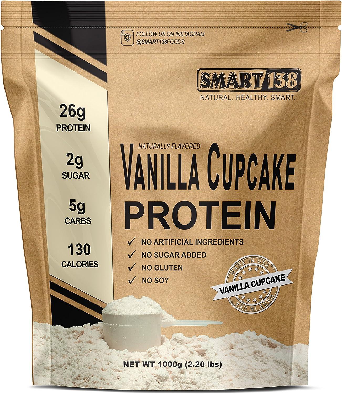 Vanille Cupcake Natural Protein Powder, Gluten-Free, Soy-Free, USA, Keto Low Carb , Natural BCAAs