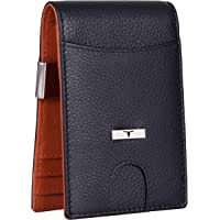 Urban Forest Eddy RFID Blocking Black/Orange Money Clip Leather Wallet for Men