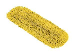 Rubbermaid Commercial Products Maximizer Dust Mop Pad and EZ Access Scraper, 24in, Replacement Pad